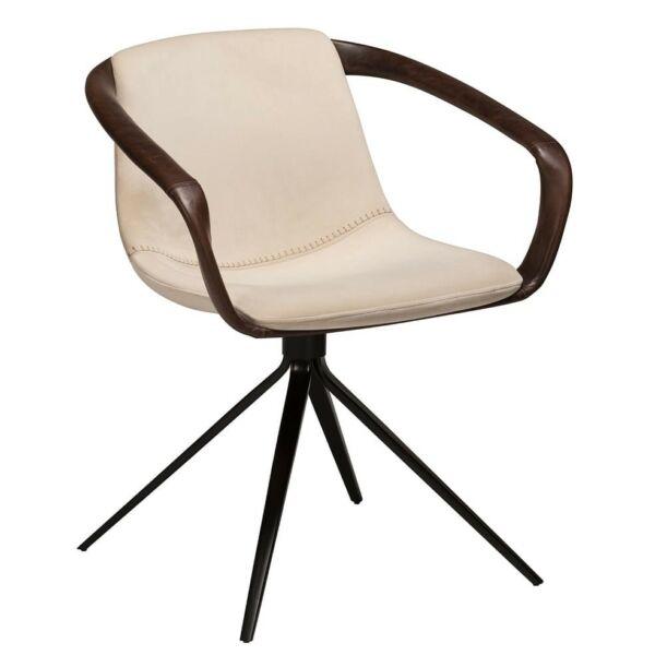 Jomo karfás design szék, pearl bársony