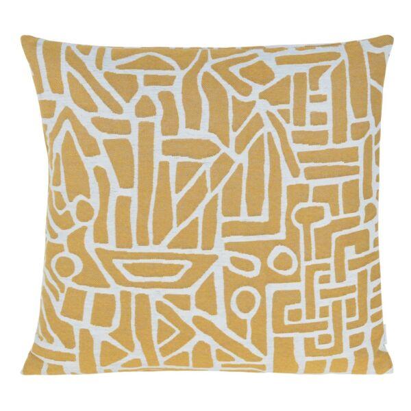 Cave párna, sárga, 50x50 cm