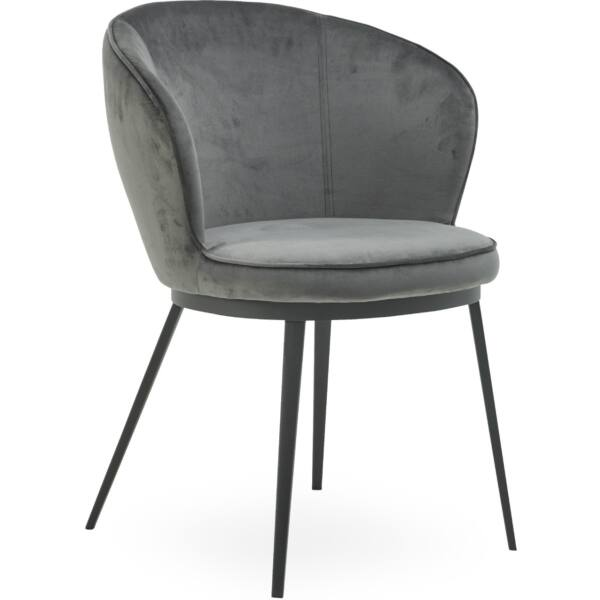 Gain design szék, antracit bársony