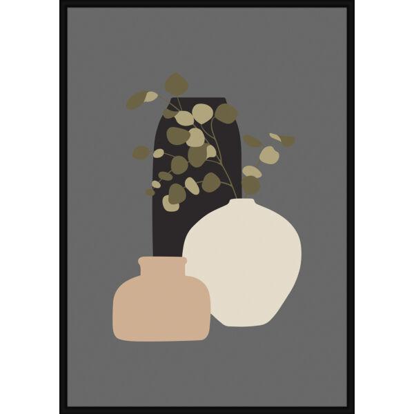 Still Life IV kép, fekete keret, 30x40 cm