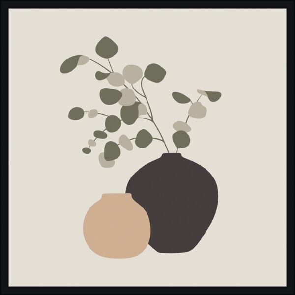 Still Life II kép, fekete keret, 40x40 cm