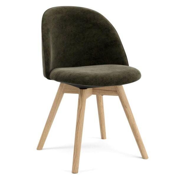Ally szék, taupe bársony, tölgy láb