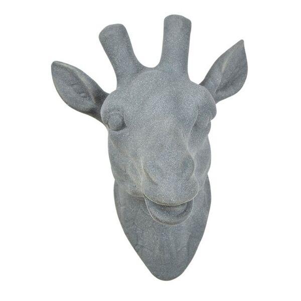 Giraffe fali szobor, szürke