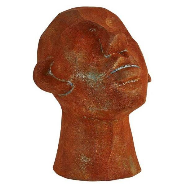 Head szobor, H23 cm, barna