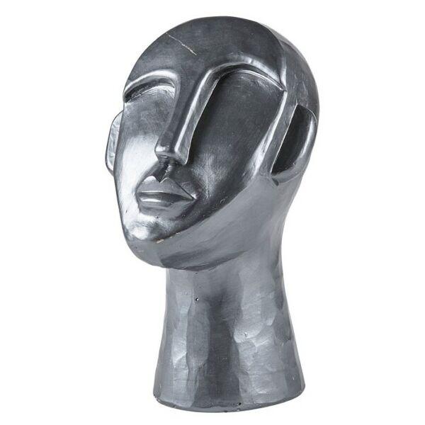 Head szobor, H30 cm, grafitszürke