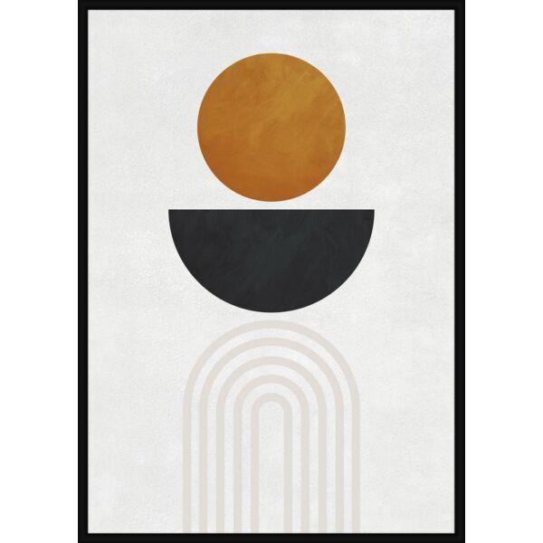 Satisfying Shapes kép, fekete kerettel, 50x70 cm