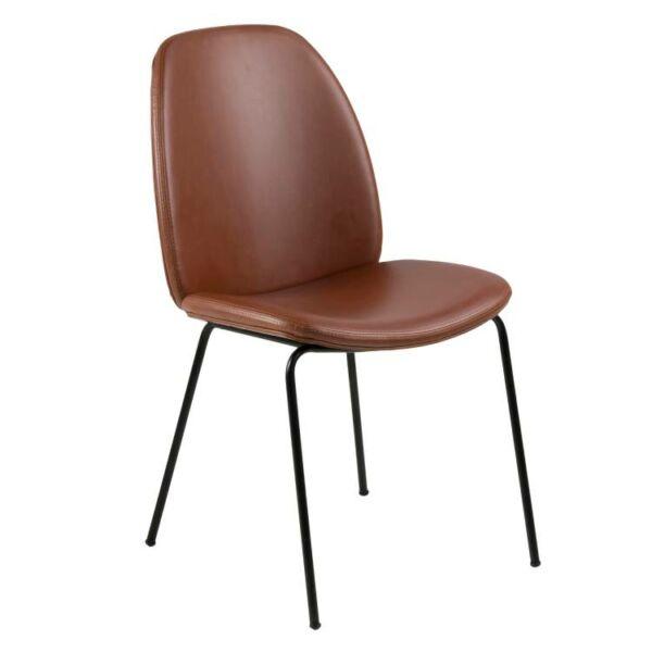 Carmen szék, brandy textilbőr