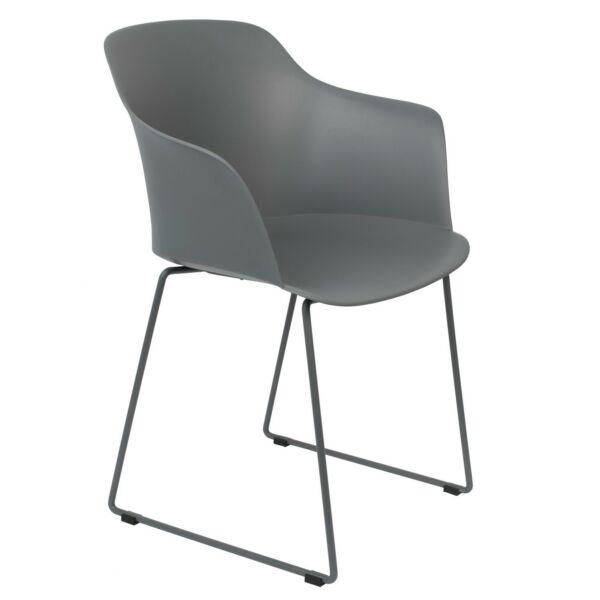 Tango design szék, szürke műanyag