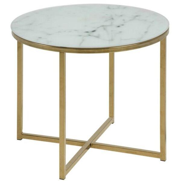 Alisma lámpaasztal, márvány mintás üveg
