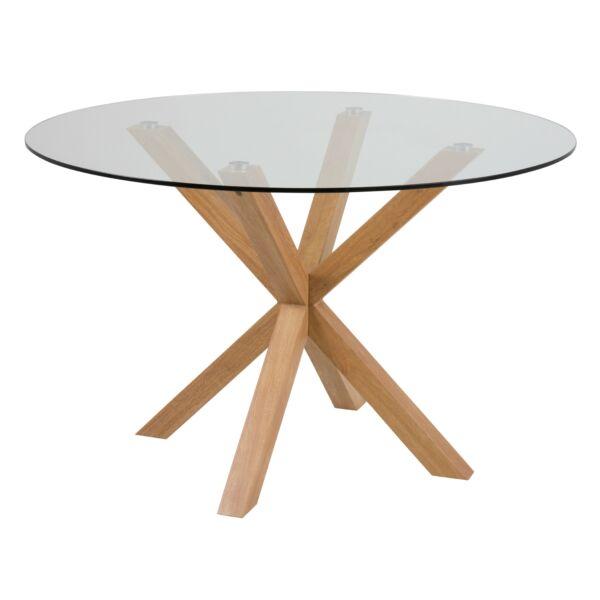 Heaven étkezőasztal, üveg, D119 cm