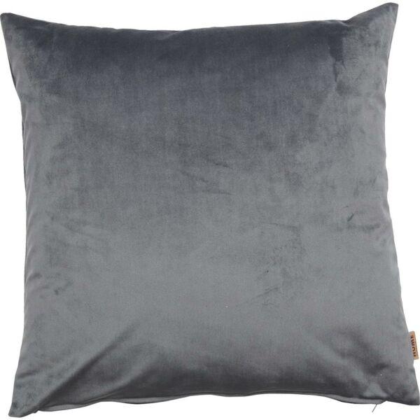 Hedmark díszpárna sötétszürke velúr, 45x45 cm