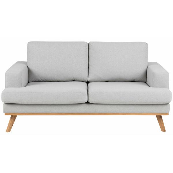 Norwich 2 személyes kanapé, világosszürke szövet