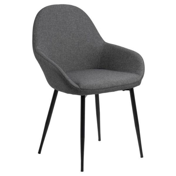Candis design szék, szürke szövet