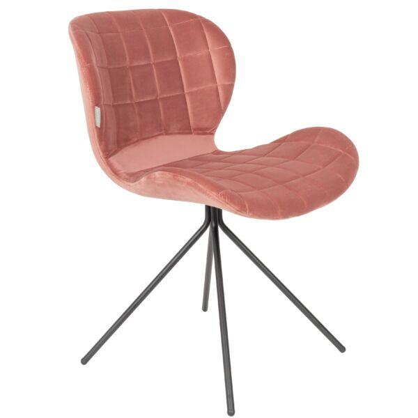 OMG szék, rózsaszín bársony