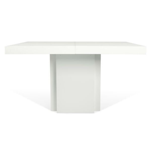Dusk étkezőasztal, magasfényű fehér, 150 cm