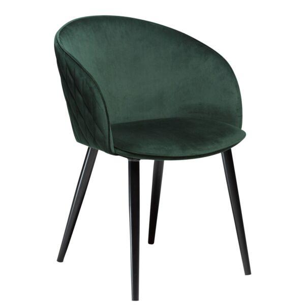 Dual design szék, sötétzöld bársony