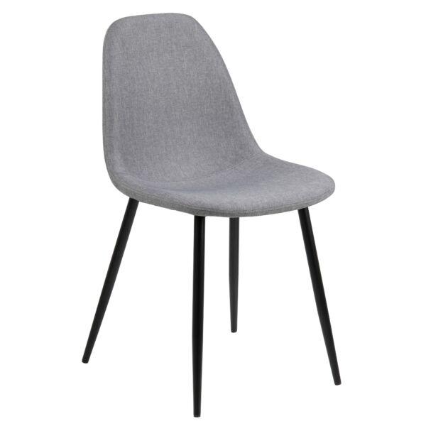 Wilma design szék, világosszürke szövet