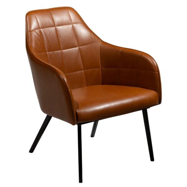Embrace lounge fotel, barna textilbőr