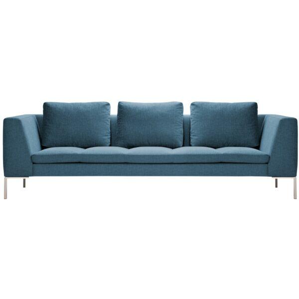 Modena 3 személyes kanapé, kék szövet