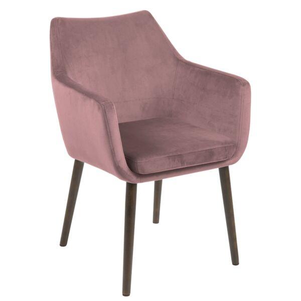 Flora design szék, rózsaszín bársony
