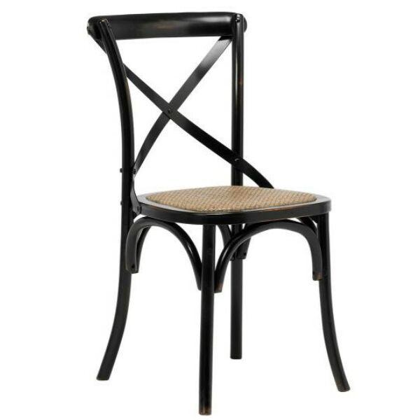 Vintage étkezőszék, fekete
