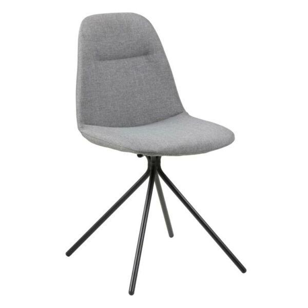 Clive szék, világosszürke szövet
