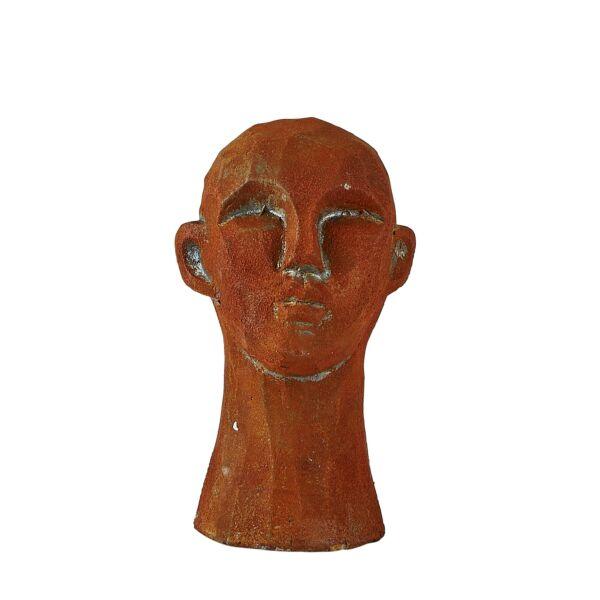 Head szobor, barna cement, H15cm