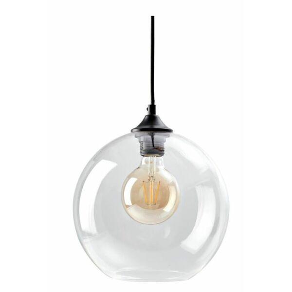 Como függőlámpa, átlátszó üveg, D25cm