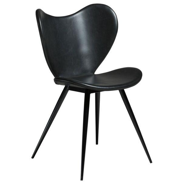 Dreamer design szék, fekete textilbőr