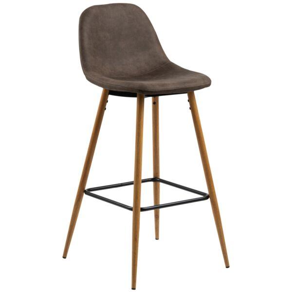 Wilma design bárszék, világosbarna, tölgy hatású fém láb