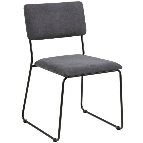 Cornelia design szék, antracit, fekete fém láb