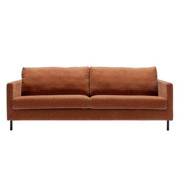 Impulse 3 személyes kanapé, narancssárga kordbársony