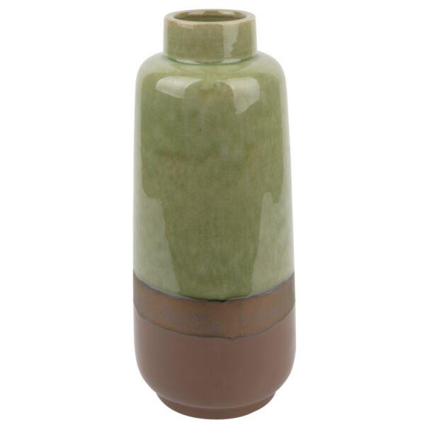 Unique váza, kerámia, zöld