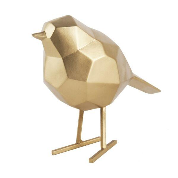 Bird szobor, kicsi, arany