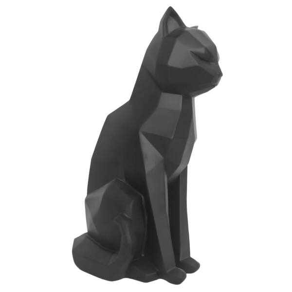 Origami Cat szobor, fekete