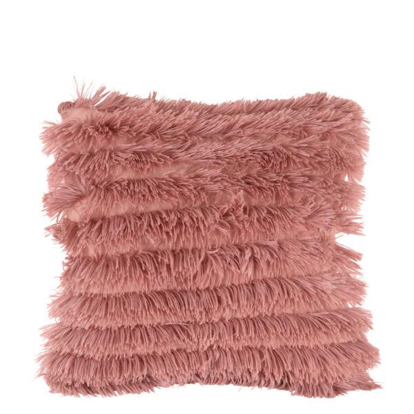 Jazz párna, rózsaszín műszőrme, 45x45 cm