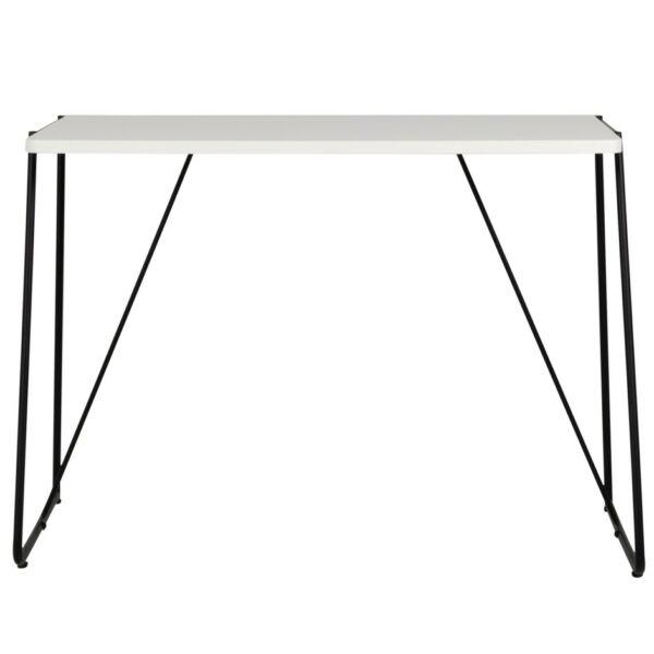 Work 1 íróasztal, fehér asztallap, fekete fém láb