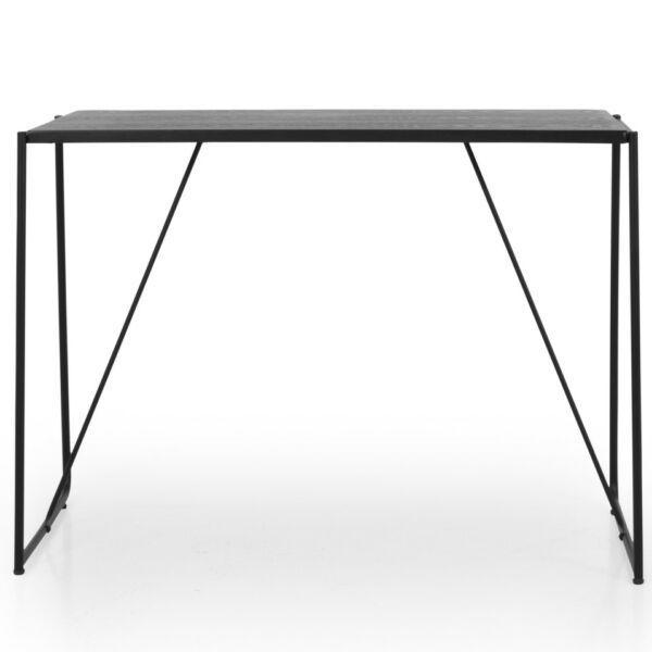 Work 1 íróasztal, fekete kőris asztallap, fekete fém láb
