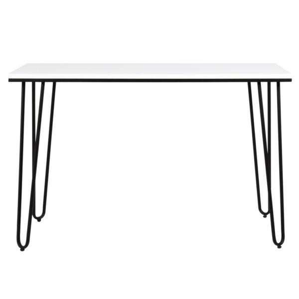 Work 2 íróasztal, fehér asztallap, fekete fém láb