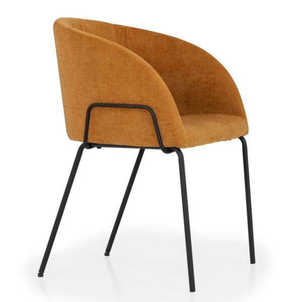 Bud szék, rozsdavörös