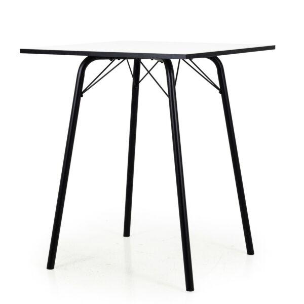 Bar asztal, fehér, 80x80 cm