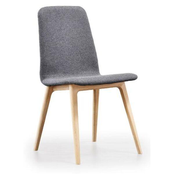 SM92 szék, tölgy váz, szürke szövet