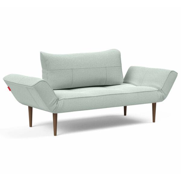 Zeal ágyazható kanapé, világos kék, sötét fa láb