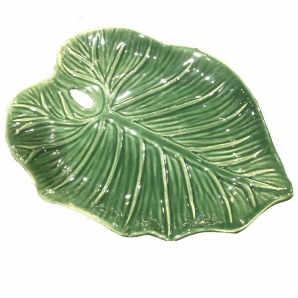 Leaf kínáló tál, sötétzöld