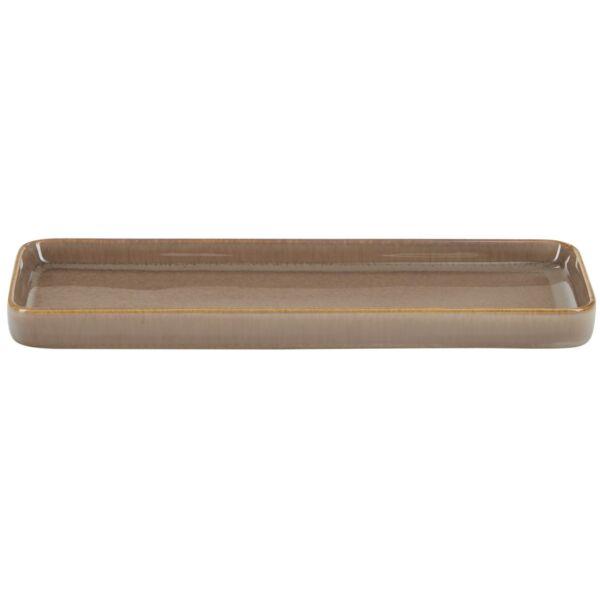 Glazed fürdőszobai tálca, barna