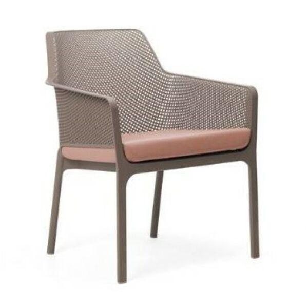 NET kerti szék, szürke, ülőpárnával