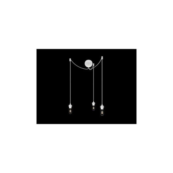 Vita Cannonball 3-as függeszték kábeltakaróval, fekete