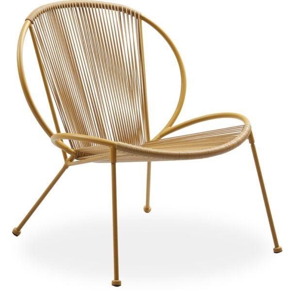 Milana kerti fotel, okkersárga, fém láb
