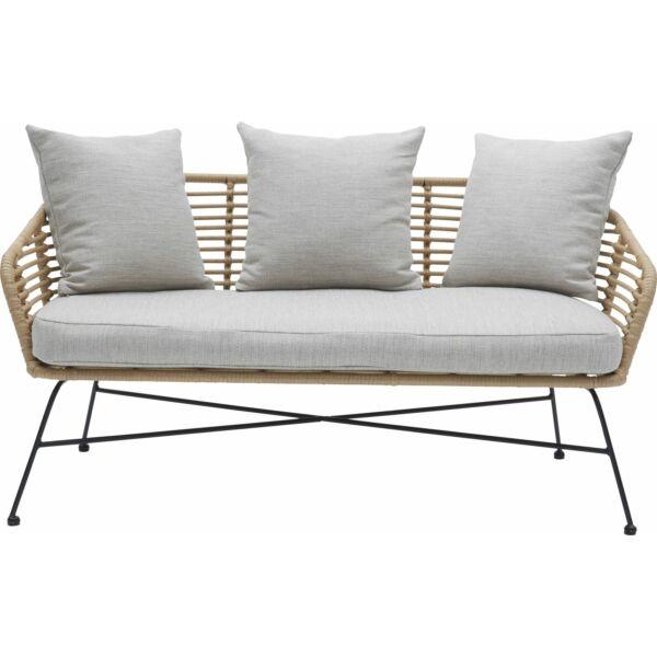 Bianchi kerti kanapé, natúr, fekete fém láb