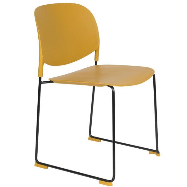 Stacks design szék, okkersárga